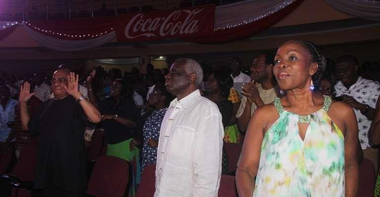 PHOTOS: Tsatsu Tsikata present, as Lionel Peter, Danny Nettey and More worship.