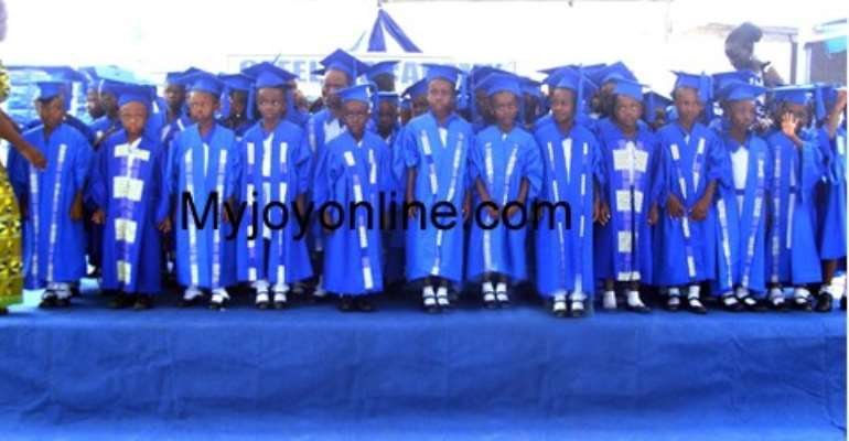 A line-up of the graduating pupils