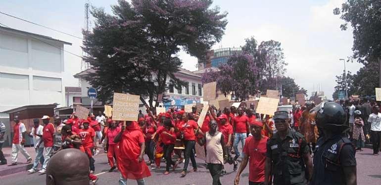 Massive turnout for NPP demonstration in Bolgatanga