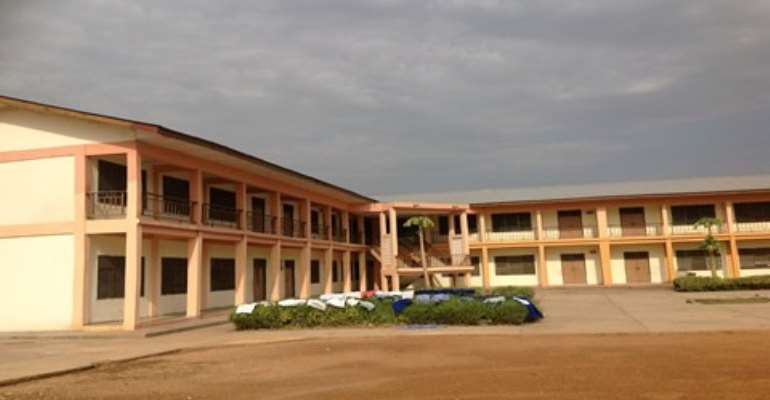 The dormitory of Nadowli Queen of Peace Senior High School, which has now become a white elephant.