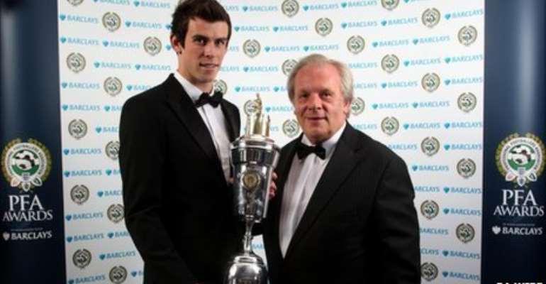 Gareth Bale was presented with the award by PFA chief executive Gordon Taylor
