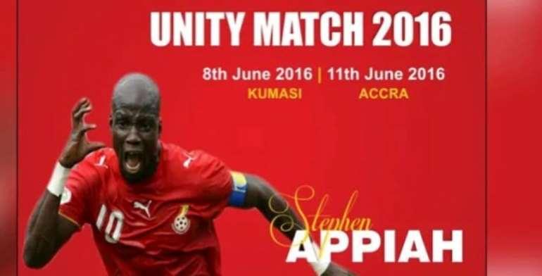 Asante Kotoko face Stephen Appiah's World XI side tonight in Unity match