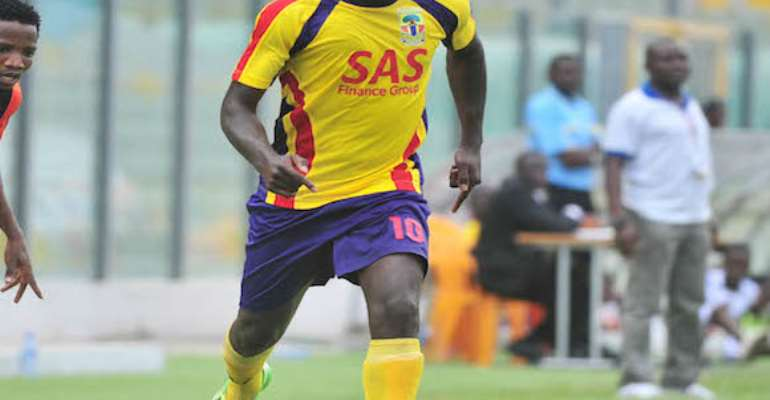 Foovi Aguidi of Accra Hearts of Oak . During the1st Capital Plus Premier league ©Christian Thompson/BackpagePix