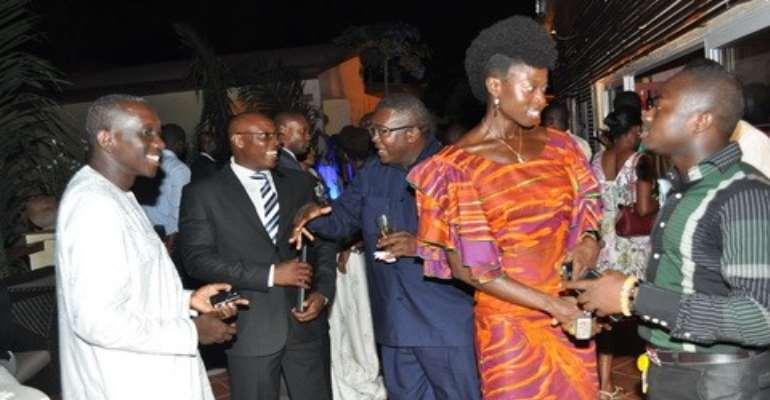 From left to right: Ekem Amonoo Lartson, COO Leap Transmedia Ltd; Phillipe Amegashie, Viasat 1; Charles Aheto-Tsegah, GES; Florence Adu, Leap Transmedia CEO; Nana Adjei Perbi, Education Advisor MTN.
