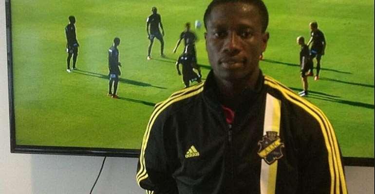 Ebenezer Ofori has arrived at AIK Stockholm for medical.