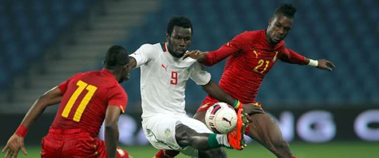 Ghana and Senegal in action in international friendly