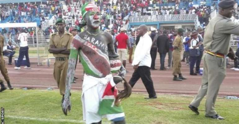 Africa Cup of Nations 2017: Riot stops play in qualifier