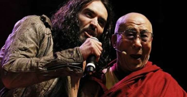 Russell Brand acted as master of ceremonies for the Dalai Lama's youth event
