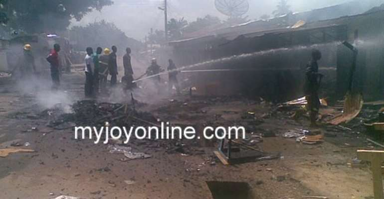 Looting and arson continues at Hohoe