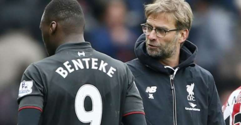 Benteke: I don't understand why Liverpool manager Jurgen Klopp ignores me