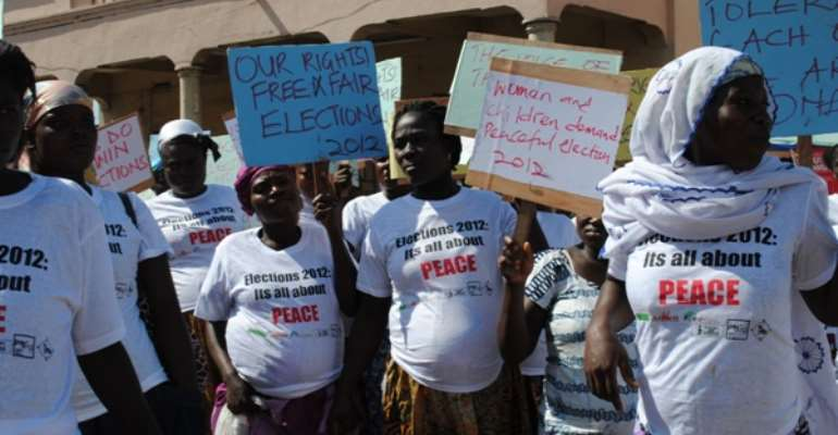 Pregnant women call for peace in Election 2012