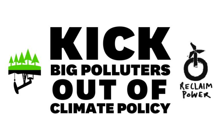 Call to kick polluters out of climate talks