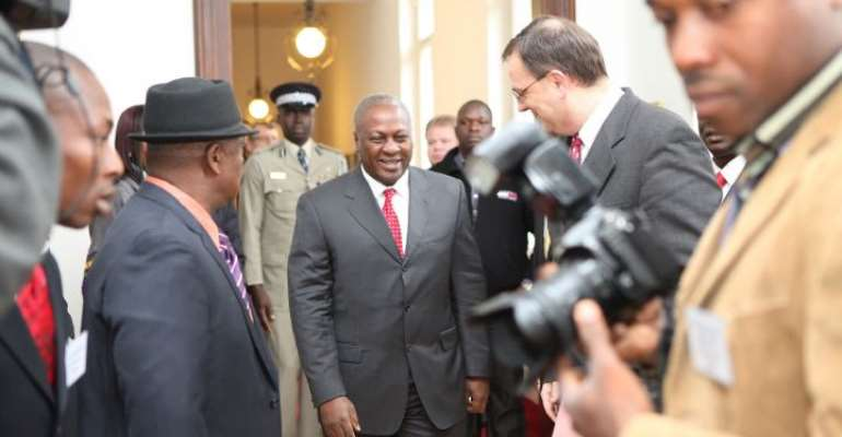 Vice President Mahama in Prague for a Business and Investment Forum