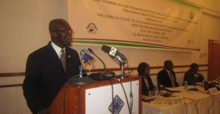 Ghana pledges to support African Court on Human and Peoples' Rights