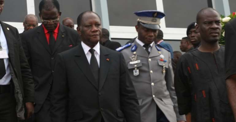 Dignitaries depart after funeral of late President Mills