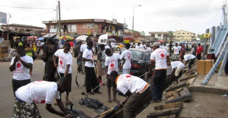 PPP organizes clean-up exercise in Ablekuma Central Constituency