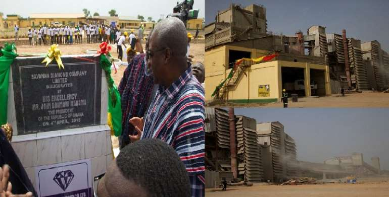 President Mahama inaugurates diamond cement factory at Easter in Buipe at the Northern region