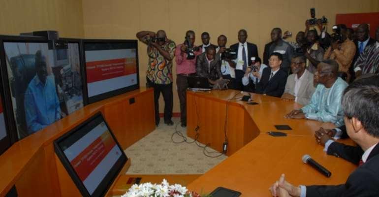 Huawei donates telepresence equipment to Presidency