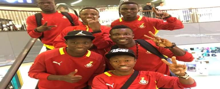 Ghana Black Satllites players after the first game South Africa
