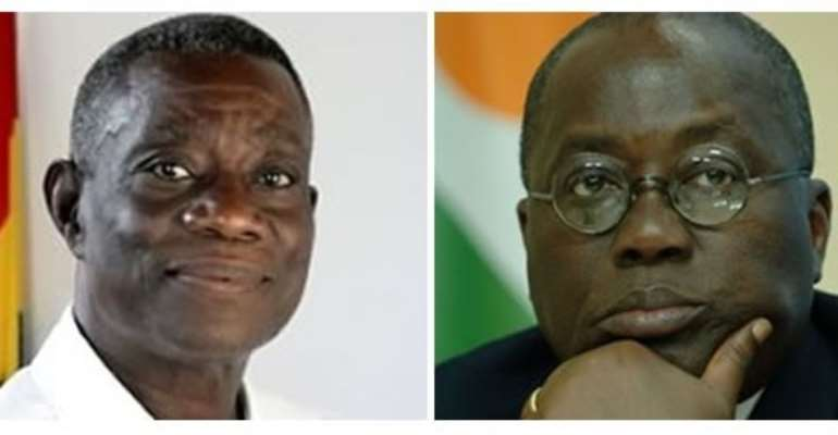 President Mills defeated Nana Akufo-Addo by less that 1% of the vote after going to a second round.