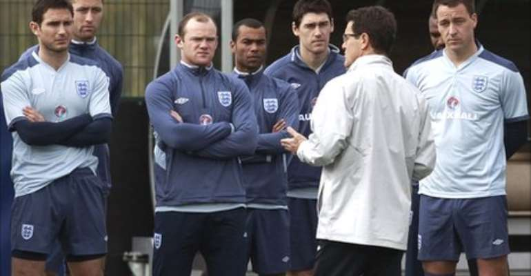Lampard (left), Rooney (third left), Cole (centre) and Terry (right) have been released