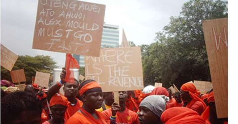 AFAG in one of their demonstrations against government