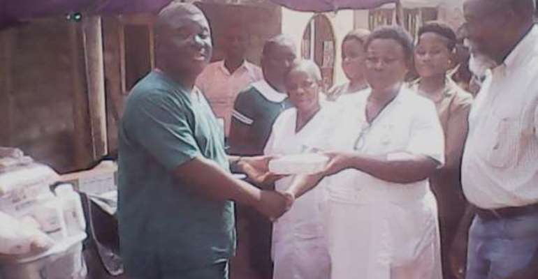 Nurse donates assorted drugs