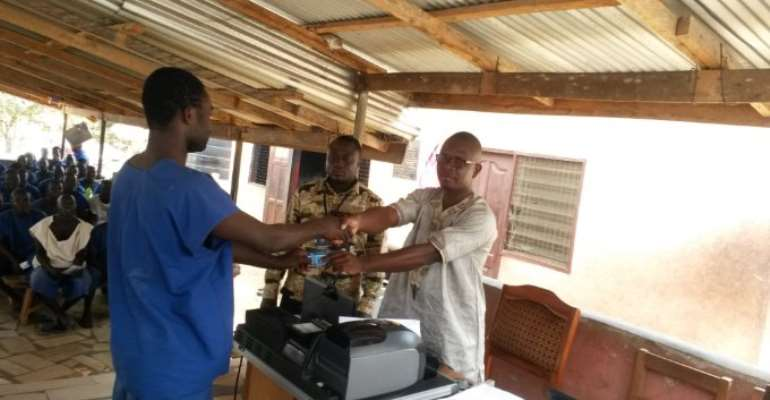 NHIA registers inmates of the Amanfrom Camp Prisons