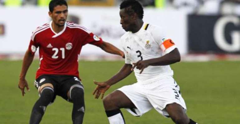 Asmoah Gyan has no fears ahead of Cairo showdown