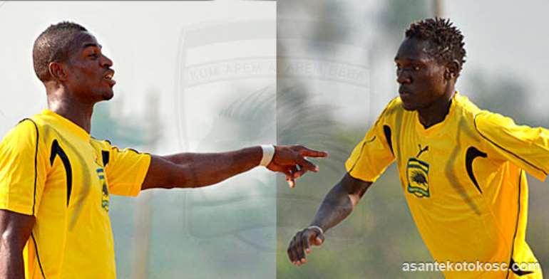 Godfred Asante (left) and Joseph Ochaya (right): Pic by Asante Kotoko website.