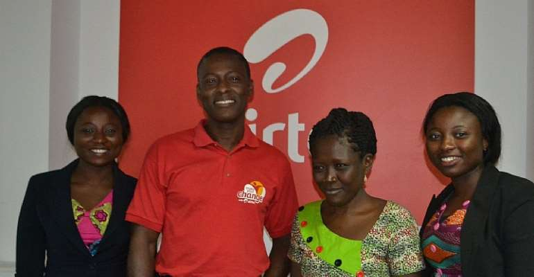 Airtel Ghana partners Foundation to 'make a change' in life of visually-impaired student