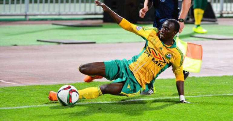 Rabiu Mohammed was sent off while in action for Kuban