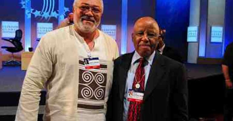 Ex-President Jerry Rawlings and Festus Mogae of Botswana