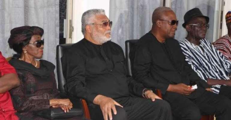 Rawlings, Konadu commiserate with Mahama [Photos]
