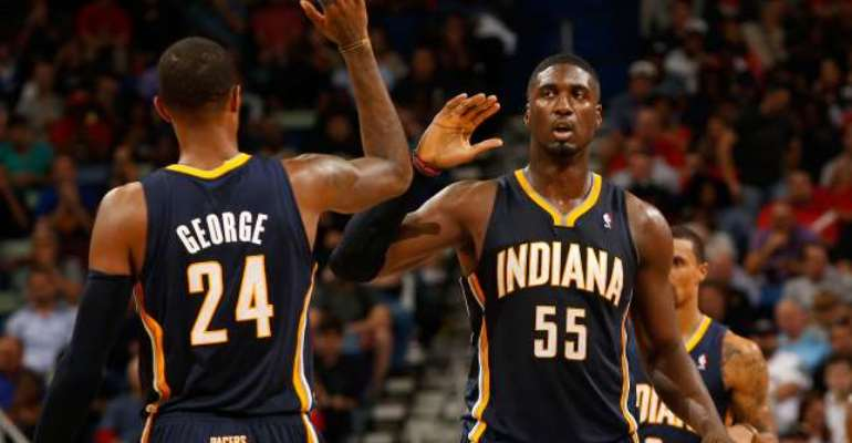 Indiana Pacers centre Roy Hibbert buoyed by Paul George's recovery