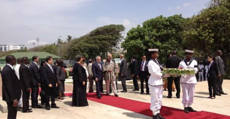 Lebanon President pays homage to Ghana' past presidents