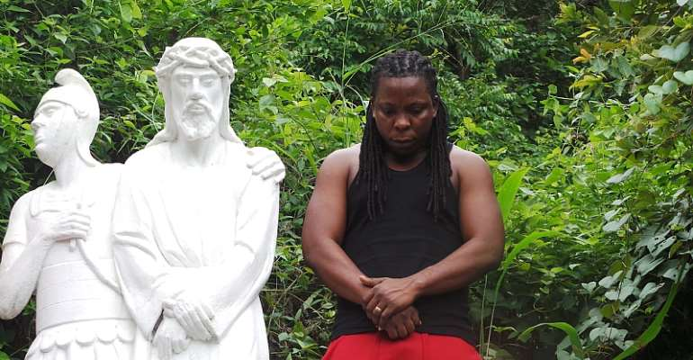 Books And Rhymes Tour: Edem Poses With JESUS On His Way To Kpando