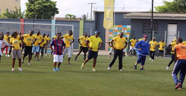 MTN Ghana marks 2015 May Day with sports at Lizzy Sports Complex