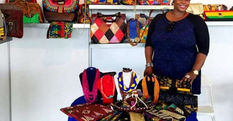 Ghanaian accessory brand, Selina Beb at 2015 Africa Fashion Week London