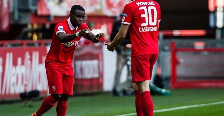 Shadrach Eghan came off the bench to play for Twente