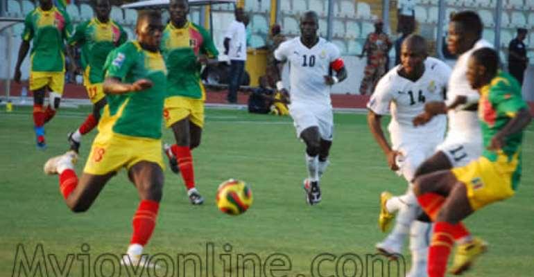 Black Stars in their match against Mali