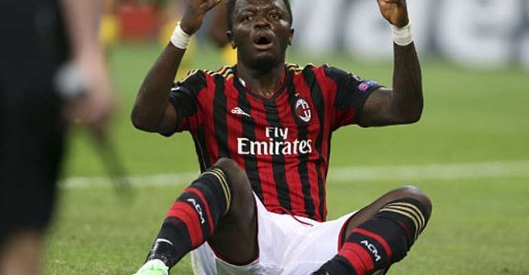 Sulley Muntari made injury return to play part in AC Milan's victory over Livorno