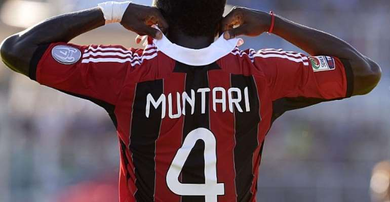 Sulley Muntari played most of the game for Milan