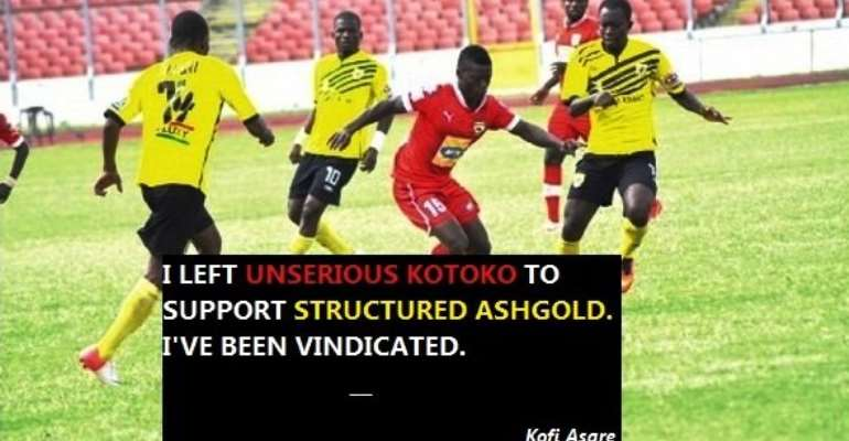 KOFI ASARE: What this AshGold title means to me, a former Kotoko fan