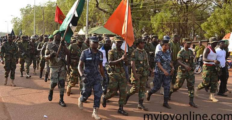Tamale brims with excitement as security forces march for National Sanitation Day