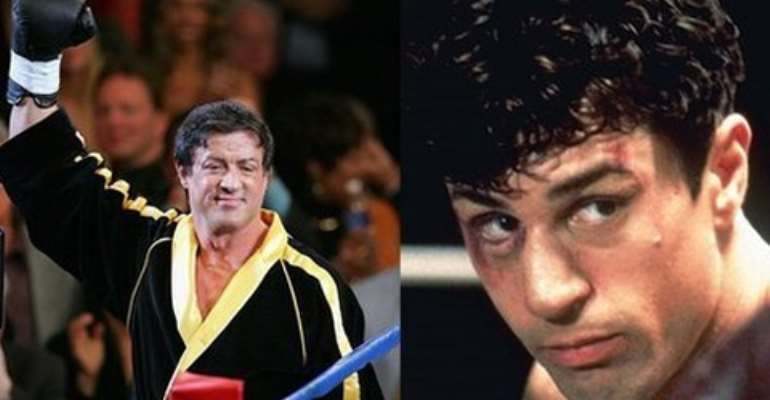 Both stars became household names following roles in boxing movies