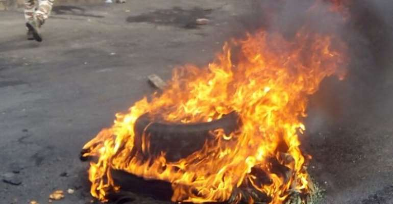Krofrom residents protest over autopsy report for 27-year-old