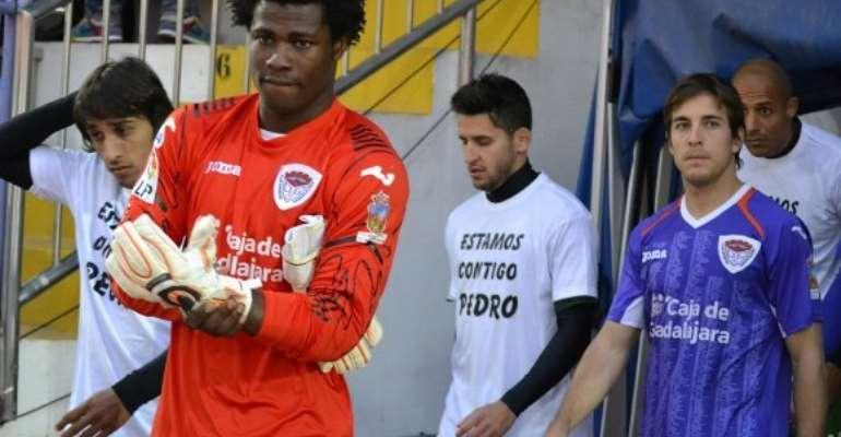 Razak Brimah helps Cordoba win first leg of promotion playoff semis