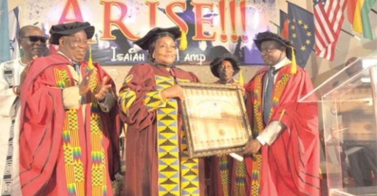 Bishop Doris Akumiah awarded a doctorate