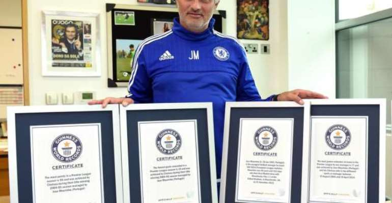 The Only One: Jose Mourinho enters Guinness World Records